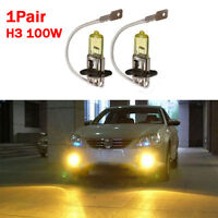 2x H3 Yellow 100W LED CREE Headlight Bulbs Kit Fog Light Bulbs Fog Lamp bulbs