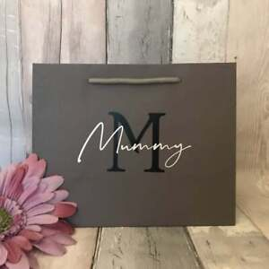 Personalised Mother's Day Gift Bag, Mummy Birthday Gift Bag, Mum Gift Bag