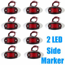 10X Red Side Marker Light Rear LED Clearence Lamp Indicators Truck Trailer Boat