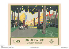 DROITWICH SPA WORCESTER HOLIDAY RETRO VINTAGE RAILWAY TRAVEL POSTER ADVERTISING