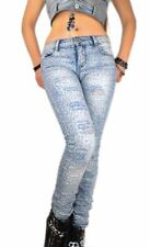 Lexxury Damen-Jeans aus Denim mit mittlerer Bundhöhe