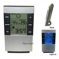Home LED Backlight Digital Calendar Thermometer Hygrometer Humidity Alarm Clock