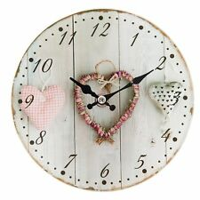 Small Watch Clayre Eef Nostalgia Shabby Heart Glass Vintage Antique 17 4cm