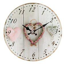 kleine Uhr  Clayre Eef Nostalgie Shabby Herz Glas Vintage Antik 17*4cm