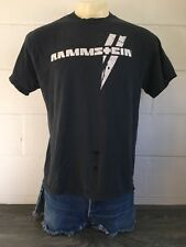 Rammstein Tshirt Vintage 90s Industrial Heavy Metal Band Shirt DU Hast Tee L