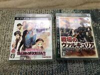 PS3 Tales of Xillia 2 , Senjou no Valkyria Japan  game 2 pcs set