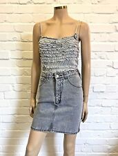 Pepe Jeans Light Wash Denim Pencil Skirt Hip Edgy Design UK 10