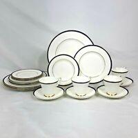 20 PIECE SET MINTON SATURN COBALT BLUE DINNERWARE DINNER SALAD BREAD PLATES CUPS