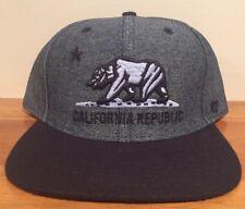 California Republic Giovanni Denim Jean Snapback 47 BRAND Hat Cap
