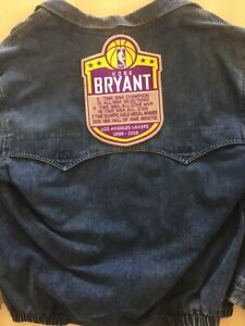 """KOBE BRYANT L. A. LAKERS 1996-2016  2020 HALL OF FAME XLG 10"""" JACKET STYLE PATCH"""