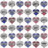 Charm Pendant Chain Crystal Choker Heart Statement Bib Necklace Fashion Jewelry