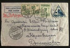 1934 Banda Aceh Netherlands Indies Airmail cover To Copenhagen Denmark