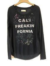 Hollister Long Sleeve Navy Sheer Top. Size Small.
