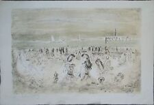 André HAMBOURG (1909-1999) Lithographie, Scène de plage, signé manuscrit P1604