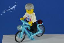 LEGO bicycle blue NEW custom minifigure blue  azure bike cycle bicycle