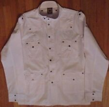 NWT Blac Label, White  with Embroidered Graphic Sz XL (LS-505)