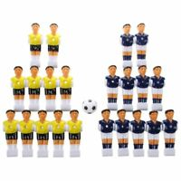 22pcs Foosball Man Table Guys Man Soccer Player Part Yellow+Royal Blue with A4I9
