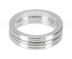 """Bicycle BMX or MTB headset spacers for 1 1/8"""" threadless (SET of 5) 2mm - SILVER"""