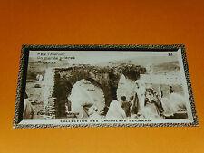 CHROMO SUCHARD 1933 COLONIES AFRIQUE MAROC FEZ UN MUR DE PRIERES