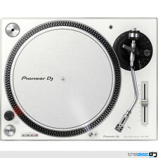 2x Pioneer Plx500 White High Torque Direct Drive DJ Turntable