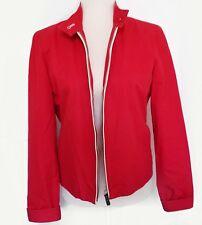 Tommy Hilfiger Women's size M Red Moto Jacket bomber zipper biker fall light