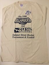 New listing Marty McInnis New York Islanders Star Autographed Inscribed #18 T shirt