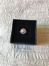 Fragrant Jewels Ring Sz 6 Kaleidoscope Swarovski Aurora Borealis crystal NWT