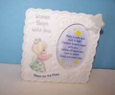 1998 Precious Moments Photo Frame Wishes Begin With You Reach for the Stars