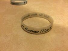 Matthew 17:20 Silicone Rubber Bracelet Glow In The Dark Christian