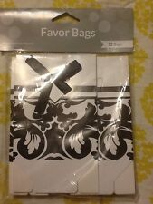 Creative Converting Ever After Damask Blk/Wht Favor Bags 12pcs.