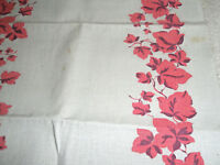 """Vintage Table Runner 49"""" x 16"""" Red Ivy"""