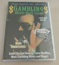 Gambling Moves with Cards Simon Lovell 3 DVD Set Cheat Cheating for gambler
