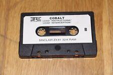 jeu ordinateur SINCLAIR ZX81 - COBALT - version K7 - ERE INFORMATIQUE