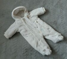 Mothercare Baby Boys Girls 0-3 Months Kids Clothe Winter Zip Up Hooded Pram Suit