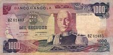 BILLET BANQUE ANGOLA 1000 escudos 1972 état voir scan 483