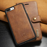 Luxury Magnetic Leather Removable Wallet Case Cover For Samsung Galaxy S9 Note 8