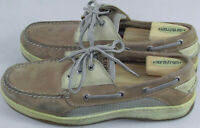 Sperry Topsider Boat deck Brown Leather Men's shoes 8.5 W