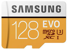 Samsung Evo 128GB 4K 100mb/s microSDXC card with Adapter 128 GB Micro Sd