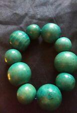 Fashion Turquoise  Stretch Wooden Bracelet