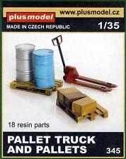Plus modello Transpallet EURO pallet Camion and pallet Diorama Accessori 1:35