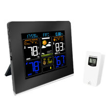 Weather Station Alarm Clock with Colorful Display and Indoor/Outdoor Sensor