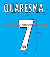 QUARESMA #7 FC PORTO Home 2007-08 PU NAME NUMBER PRINT