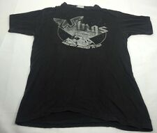 Vintage 1976 Wings Over America '76 Tour Shirt Rare Paul McCartney Black - Large