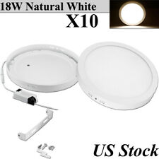 10X 18W Round Led Panel Light Natural White Ceiling Down Surface Mount Fixtures