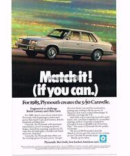 1985 Plymouth Caravelle Silver 4-door Sedan Vtg Print Ad