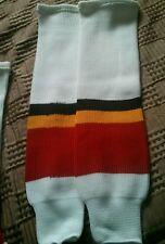 Calgary Flames style Home white socks Nhl