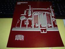 Prospekt Sales Brochure Kenworth 953 Englisch LKW Truck Camion Nutzfahrzeuge
