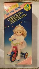 "Vintage 1990 Baby Doll Tricycle, Battery Operated ""Shirley On The Ride""  D1"