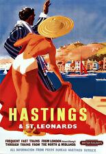 Hastings & St Leonards Sussex British Railways  Travel  Poster Print