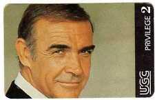 Rare cinécarte UGC série acteurs du cinéma Sean Connery Privilège 2